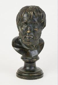 Bronzová busta - Hésiodos
