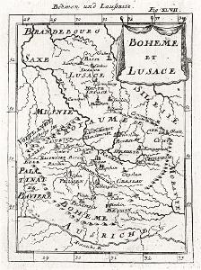 Mallet : Boheme et Lusace, mědiryt, 1683