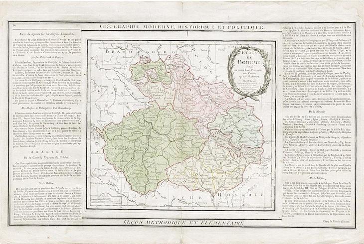 Brion,Etats de Boheme, mědiryt, 1786 - Antikvariát