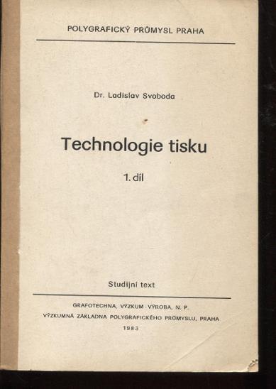 Technologie tisku 1. díl - Knihy