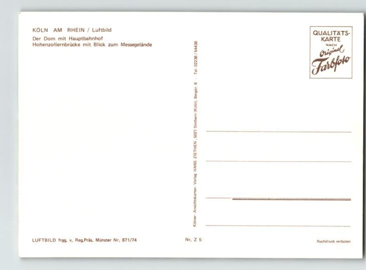 KÖLN AM RHEIN • DOM • 25 - Pohlednice