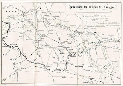 Bitva u Hradce, litografie (1880)
