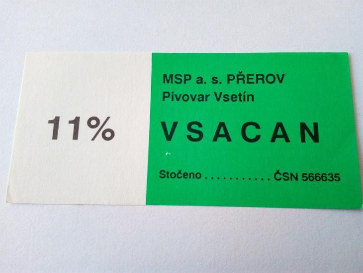 VSETÍN - Nápojový průmysl