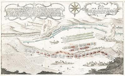 Lovosice bitva, mědiryt 1756