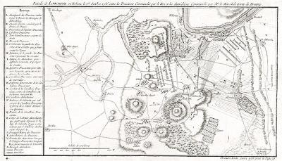 Lovosice bitva, mědiryt, 1758