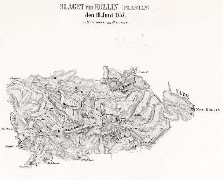Kolin bitva 1757, litografie, 1831 - Antikvariát