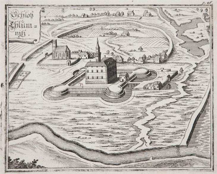 Chlumec and Cidlinou, Vogt,  mědiryt, 1712 - Antikvariát