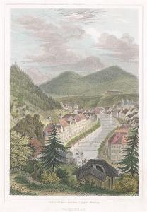 Karlovy Vary od Mariánské, kolor  oceloryt, 184