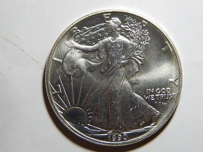 USA 1 Dollar 1990 Silver Eagle Ag 1 OZ UNC č36038