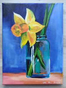 Narciska - akryl, autorská malba