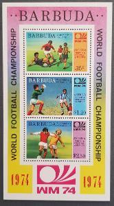 Barbuda 1974 MS fotbal , 1ks aršík