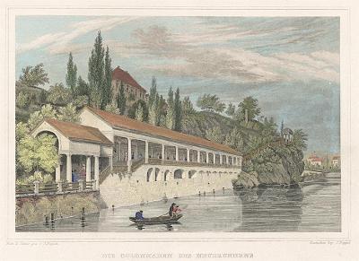 Karlovy Vary kolonáda, Lange, kolor.oceloryt, 1842