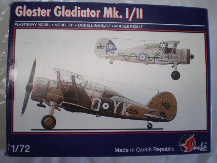 PAVLA Models 72059 Gloster Gladiator MK.I/II 1/72 - Modelářství