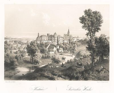 Jindřichův Hradec, Haun, litografie, 1860