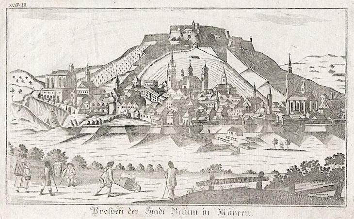 Brno, Eder , mědiryt (1800) - Antikvariát