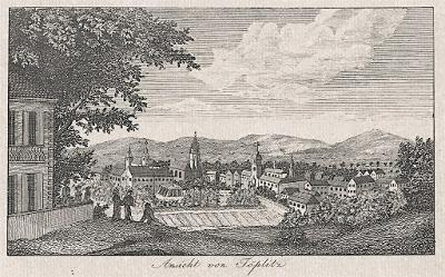 Teplice, mědiryt, (1820)