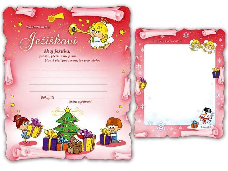Přání Vánoční V24-323 H Dopis Ježíškovi - Zařízení