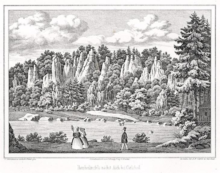 Svatošské skály Doubí, Seifert, litografie, (1860) - Antikvariát