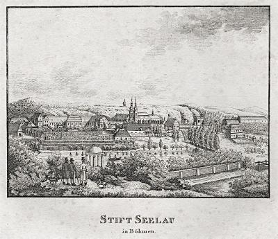 Želiv, mědiryt, (1820)
