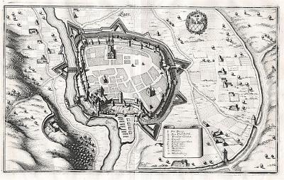 Cheb, Merian, mědiryt, 1650
