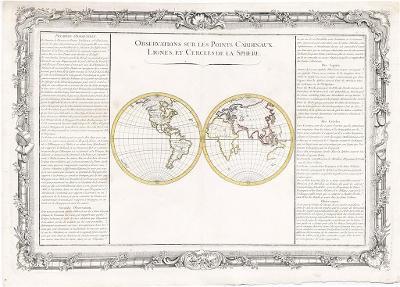 Buy de Mornas : Observations, mědiryt, 1762