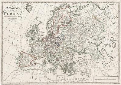 Europa, mědiryt, 1807