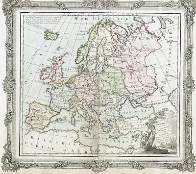 Europe, Brion, mědiryt, 1786