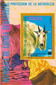 Afrika, Republica de Guinea Ecuatorial, kozel horský,  razítko