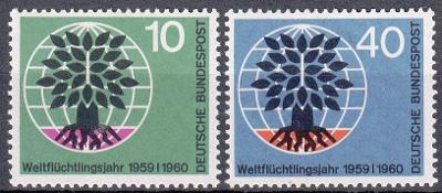 Německo / BRD 1960 Mi.326-327 MNH**