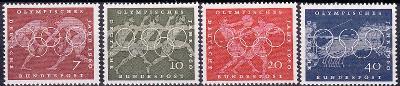 Německo / BRD 1960 Mi.332-335 MNH** OH, olympiáda