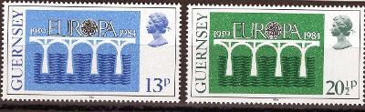 EUROPA CEPT -Guernsey Mi 286-7**