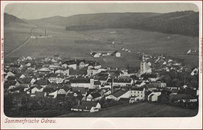 Odry (Odrau) * pohled na město * Nový Jičín * M906