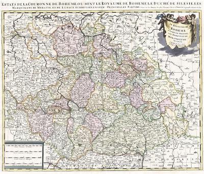 Schenck P.:  Boheme , kolor. mědiryt, 1702