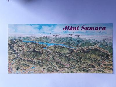 Jižní Šumava - (22 x 10,5 cm) - pohlednice VF