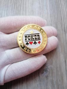 Pamětní mince - TEXAS HOLD´EM POKER - ZLACENÁ - OD 1KČ!