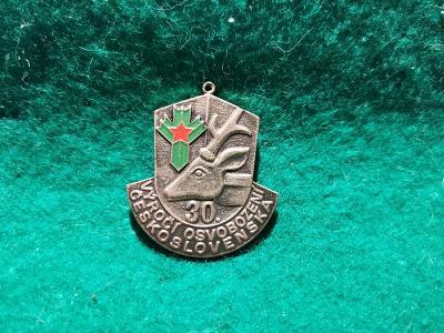 zip saček 17/ odznak -vyroči osvobozeni československa 30-přivěšek