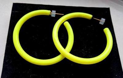 Krásné sytě žluté náušnice kruhy
