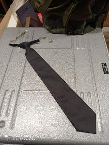 Kravata - vázanka čsla -  pevný uzel - tmavá