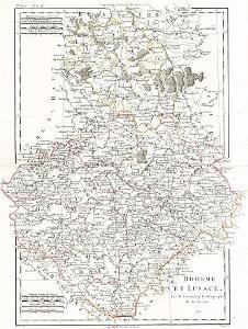 Bonne M.: Boheme et Lusace, mědiryt, 1788