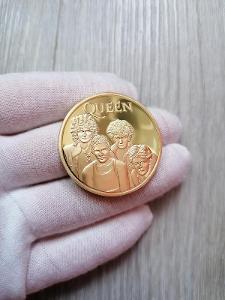 Pamětní mince - QUEEN TOP - CERTIFIKÁT - ZLACENÁ - OD 1KČ!