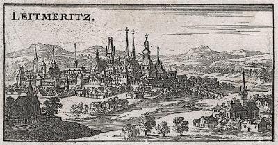 Litoměřice,  Riegel, mědiryt 1687