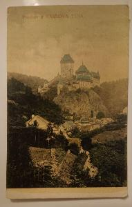 Hrad Karlštejn - Rakousko-Uhersko - prošlo poštou 1918