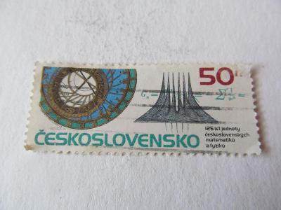 """Známka """"125 let Matematiků a Fyziků"""" 50 hal."""