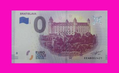0 Euro souvenir bankovka BRATISLAVA - BRATISLAVSKÝ HRAD 2019-1