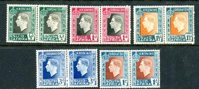 britská Južná Afrika 1937 * George VI komplet mi. 109-118