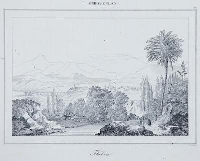 Theben, Le Bas, oceloryt 1840