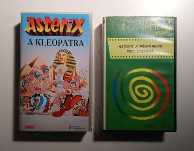 2xVHS - Asterix, česky, perfekt stav, 100% hraje, bez poškození