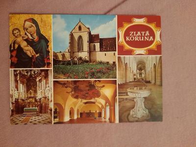 Pohlednice ZLATÁ KORUNA,prošlé poštou