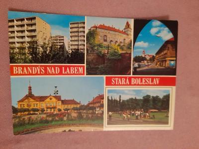 Pohlednice BRANDÝS NAD LABEM - STARÁ BOLESLAV,neprošlé poštou