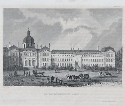 Paris Salpetriere, Meyer, oceloryt, 1850
